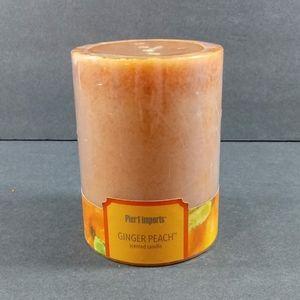 "Pier 1 Ginger Peach 3"" x 4"" Orange Pillar Candle"